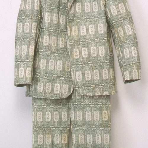 Sewn US currency (after Joseph Beuys' Felt Suit, 1970).